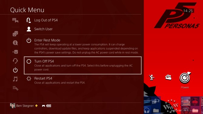 Sony PS4 Turn Off