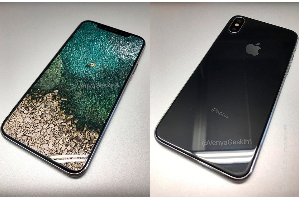 Безрамочный дисплей iPhone 8