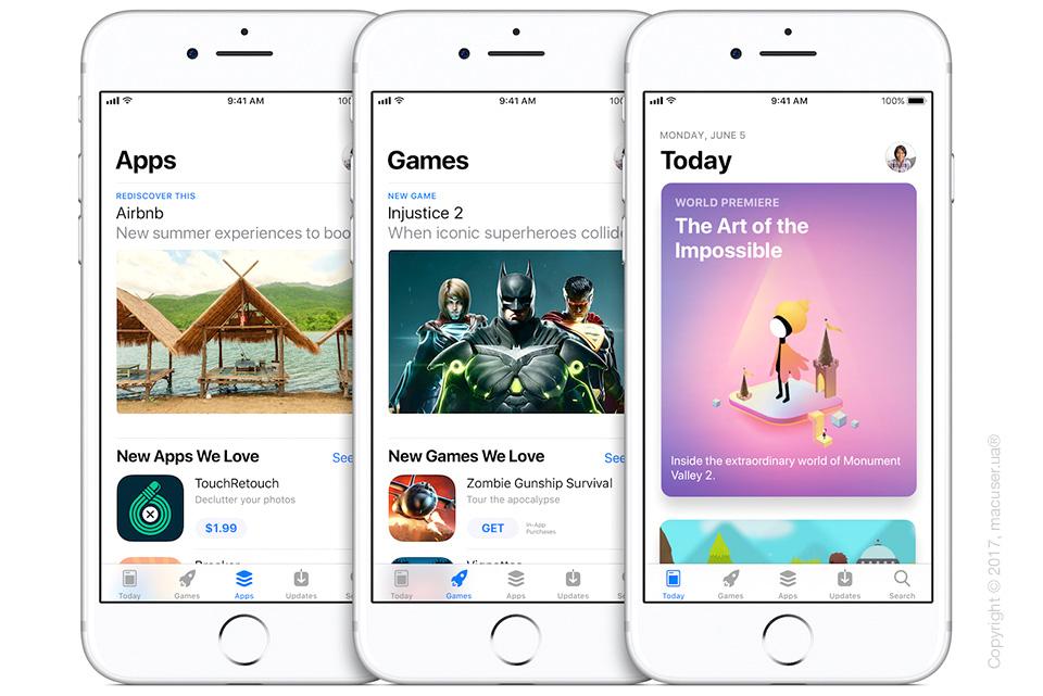 iOS 11 обновление App Store