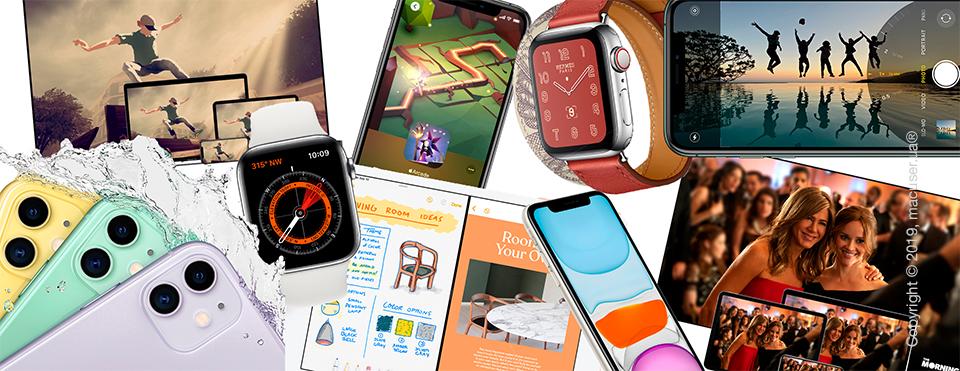 Новинки от Apple: iPhone 11, iPhone 11 Pro, iPhone 11 Pro Max, Apple Watch 5, iPad 10,2