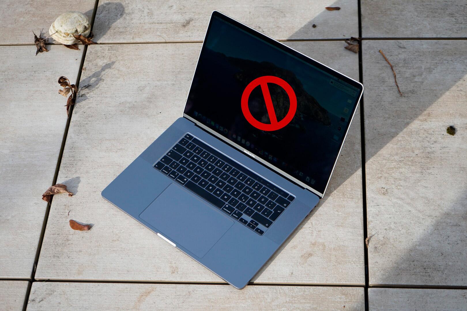 Не включается MacBook Pro 16″