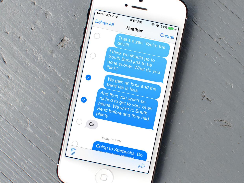 Учимся удалять сообщения на новой iOS 7.