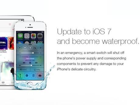 [ФЕЙК] Водонепроницаемая iOS 7. А вы уже обновились?