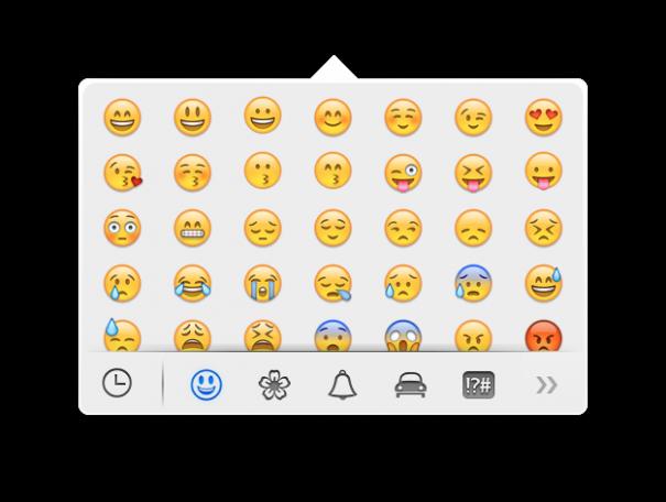 Как пользоваться emoji в OS X Mavericks?
