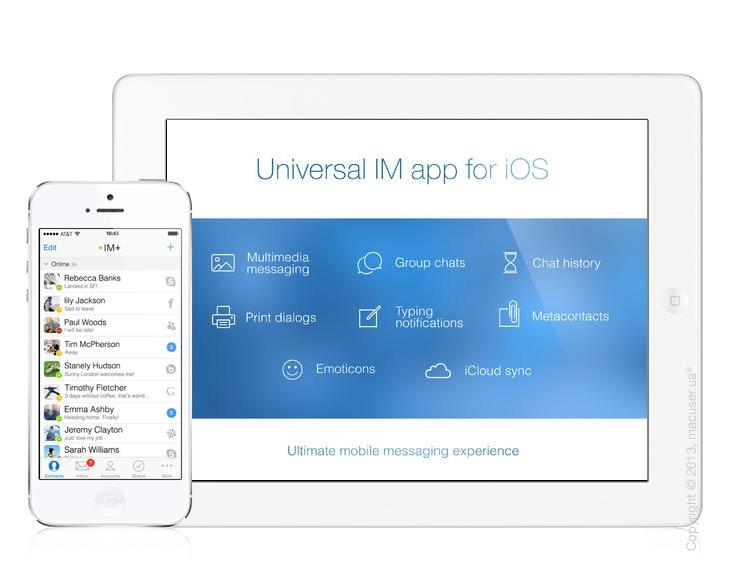 IM+ Pro7 – универсальный мессенджер с большим функционалом