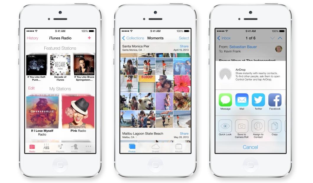 Изменения в iOS 7 beta 2 для iPhone