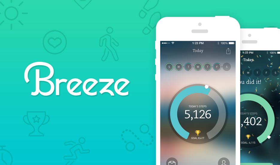Breeze — бесплатный шагомер для iPhone 5s от создателей RunKeeper