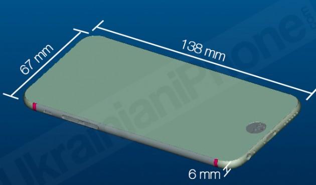 В редакцию UiP попали производственные рендеры iPhone 6. Знаем размеры и диагональ экрана