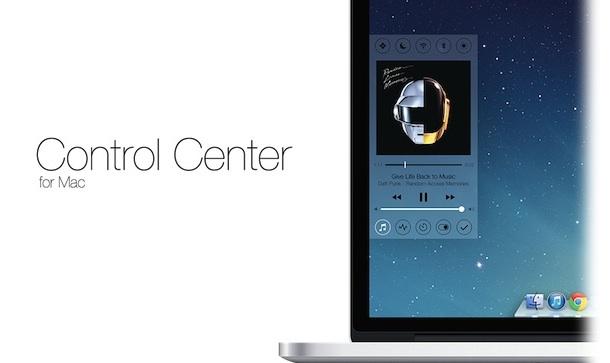 Пункт управления (Control center) из iOS 7 на Mac