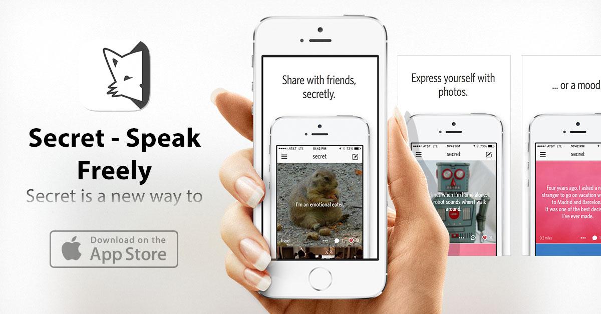 Приложение для любителей секретов, тайн и сплетен: Secret — Speak Freely