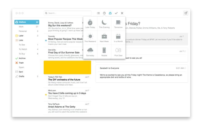 Вышла beta-версия Mailbox для Mac