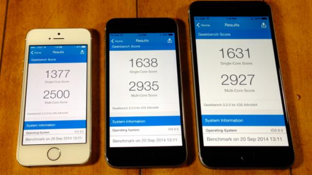 Тестирование iPhone 6 Plus, iPhone 6 и iPhone 5s