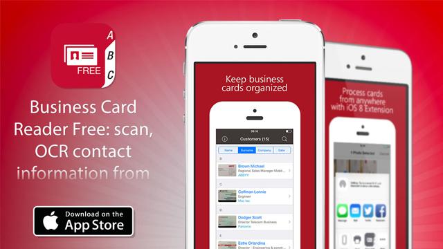 Вышла бесплатная версия Abbyy Business Card Reader с поддержкой iOS 8