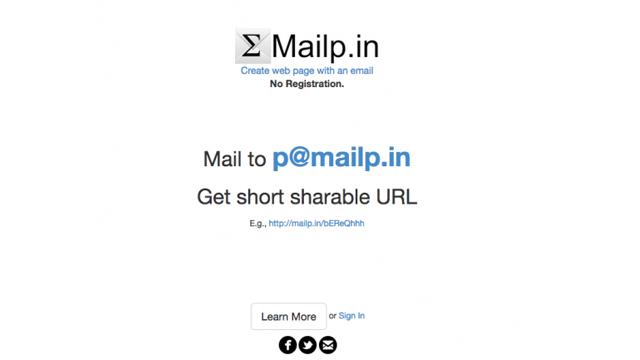 Сайт дня: Mailp.in - из почты на веб-страницу