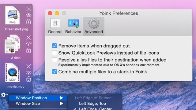 Yoink — расширенный буфер для файлов