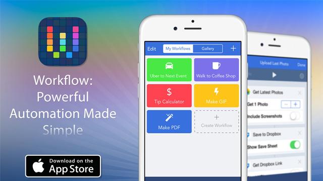 Приложение Workflow выполнит заданные цепочки действий из разных iOS-приложений