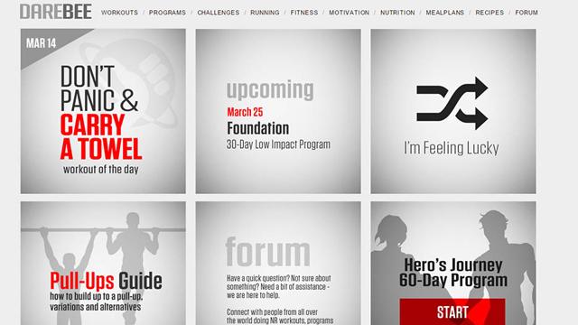 Darebee.com – отличный ресурс для бесплатных занятий фитнесом