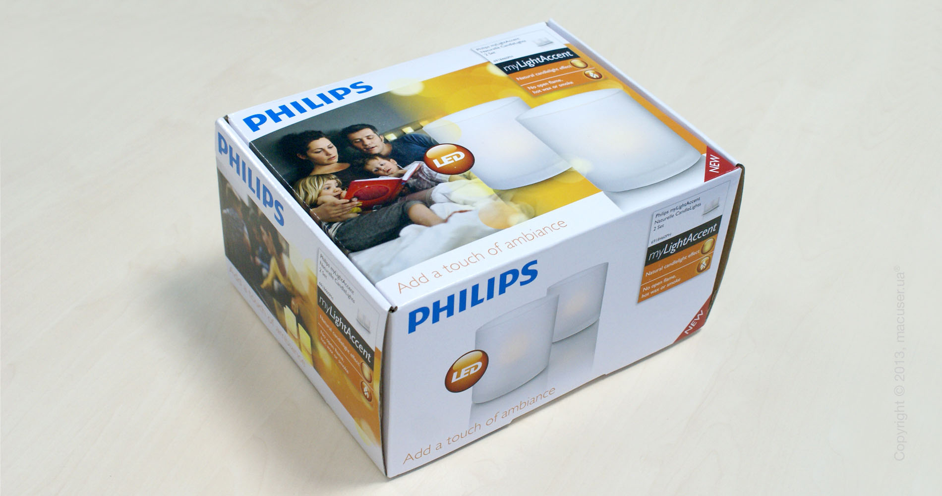 Philips Imageo CandleLights Naturelle, 2 Set (6918460PH)