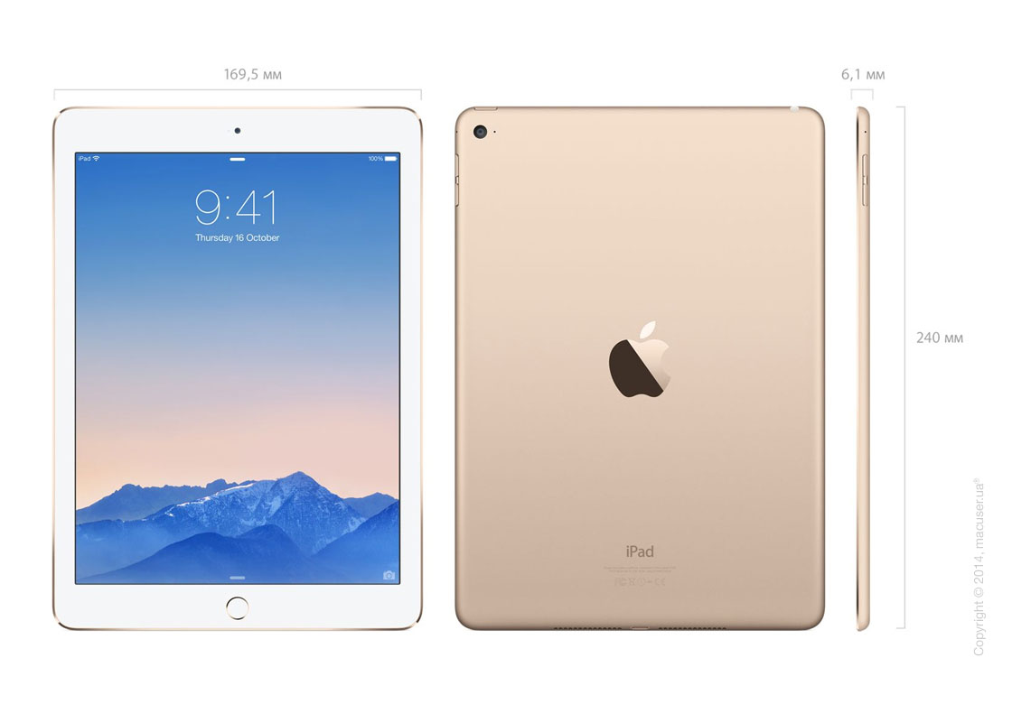 Apple iPad Air 2 Wi-Fi+4G 128GB, Gold