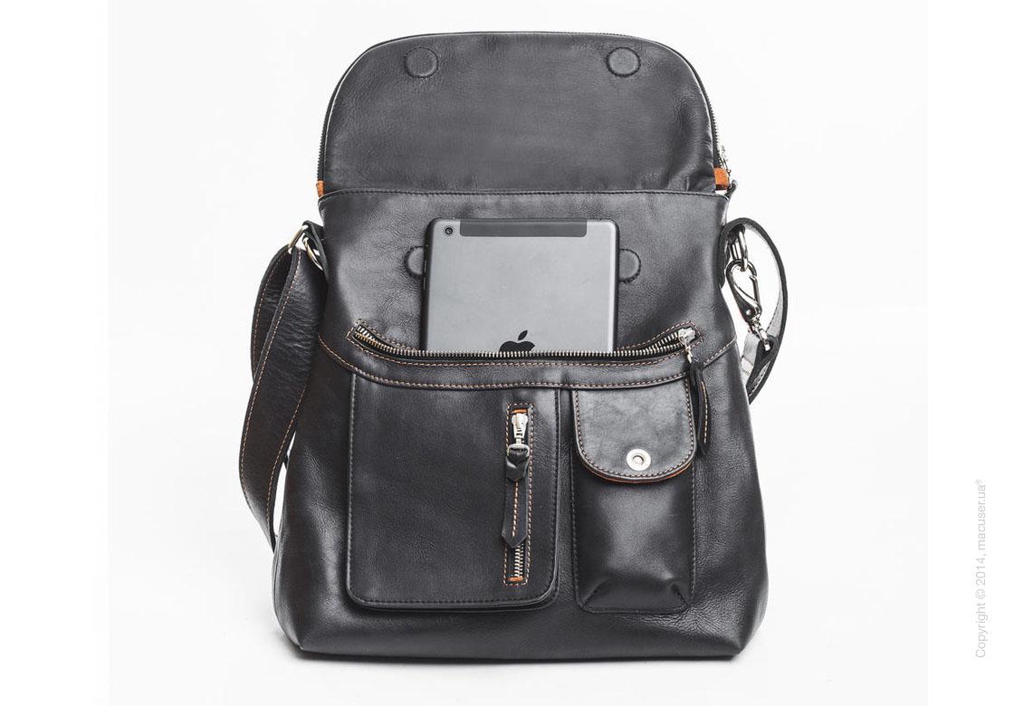 Сумка Dublon Leatherworks Kiss Revolution Black & Orange для Apple MacBook 13