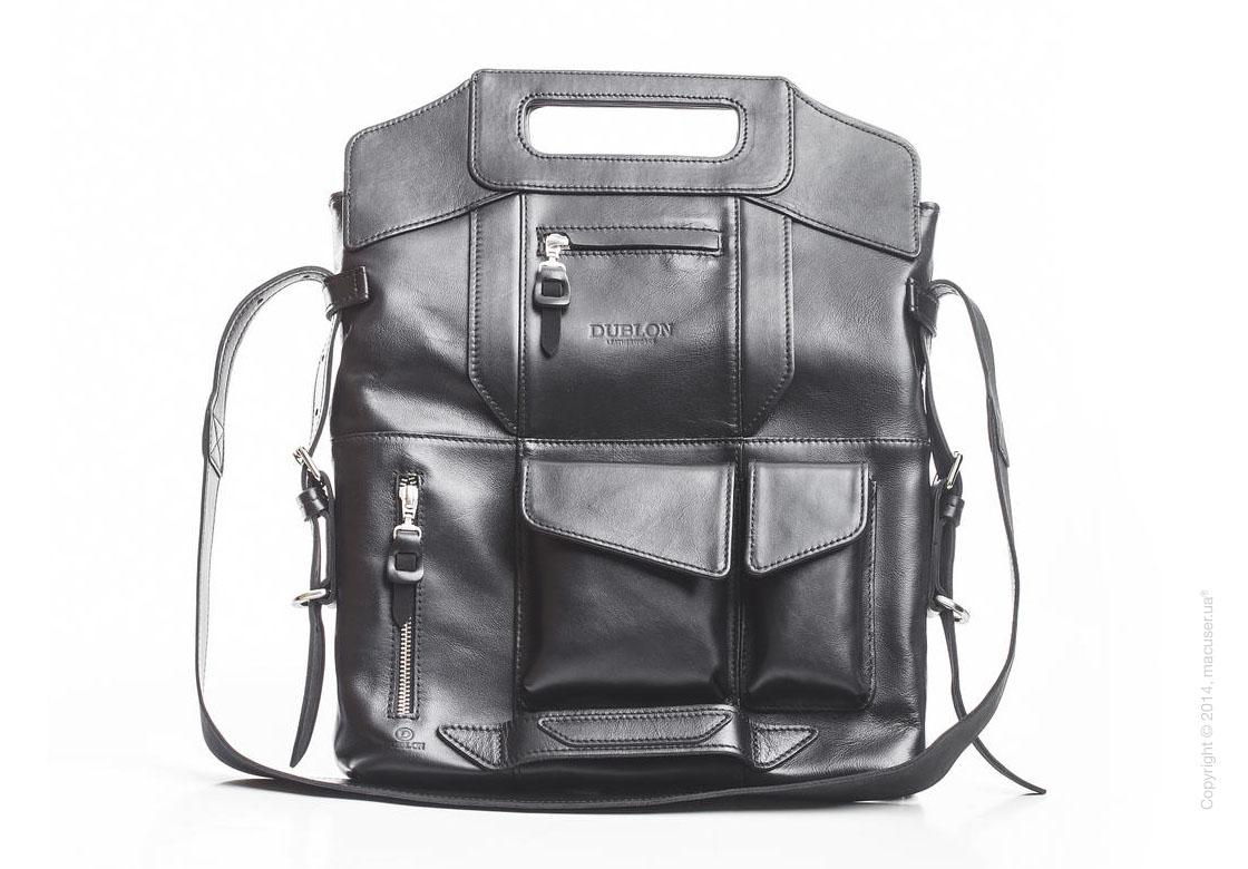 Сумка-трансформер Dublon Leatherworks Megapolis Modern Black 13