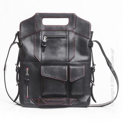 Сумка-трансформер Dublon Leatherworks Megapolis XL Black & Red 15