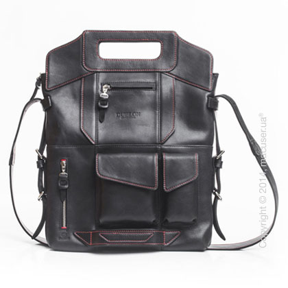 Сумка-трансформер Dublon Leatherworks Megapolis XL Black & Red 15
