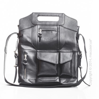 Сумка-трансформер Dublon Leatherworks Megapolis XL Modern Black 15