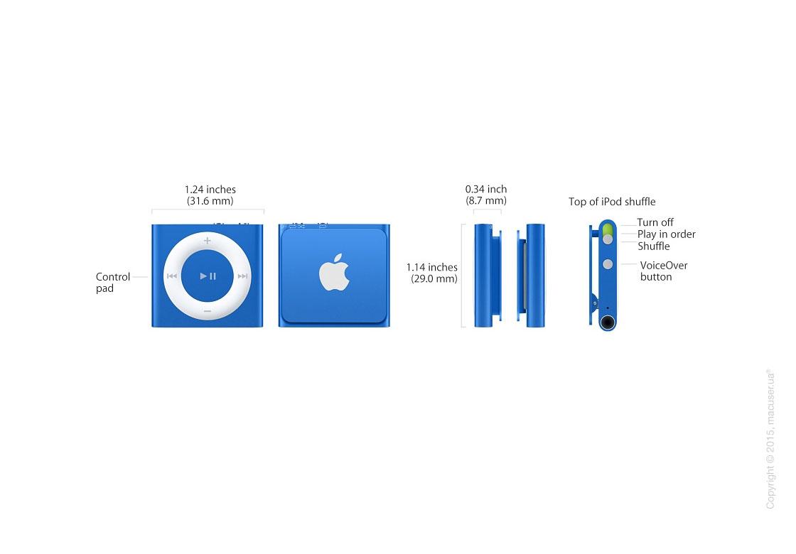Apple iPod shuffle 2GB, Blue NEW