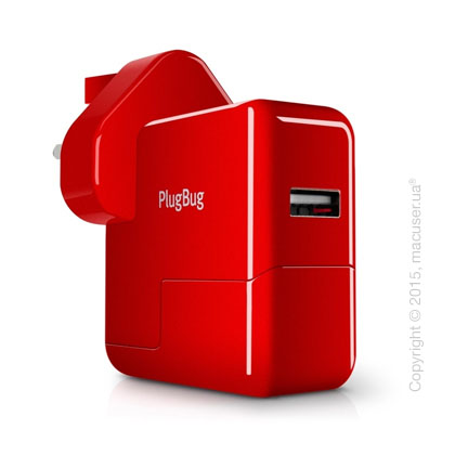Зарядное устройство Twelve south PlugBug World White/Red для iPhone/iPod/iPad mini/iPad/MacBook