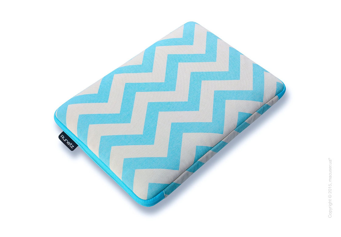 "Чехол-конверт Runetz Soft Fabric Sleeve, Teal Chevron для MacBook Air/ Pro 13"" (Retina)"