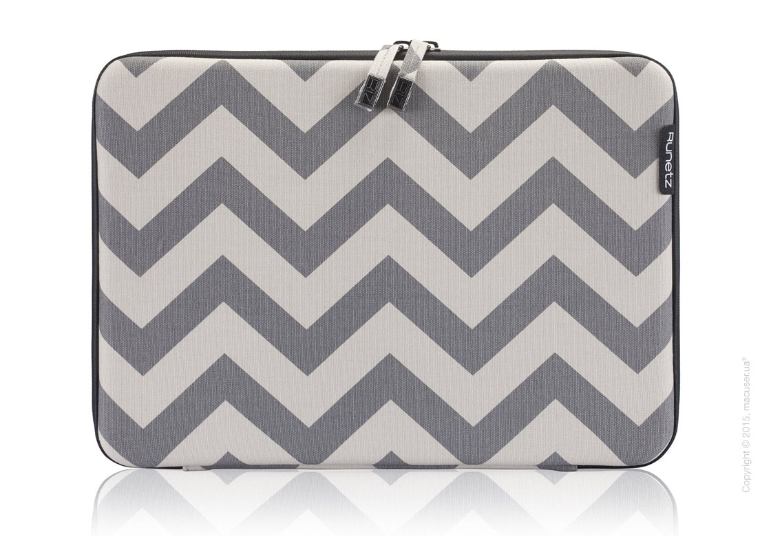"Чехол-конверт Runetz Hard Fabric Sleeve, Gray Chevron для MacBook Air/ Pro 13"" (Retina)"
