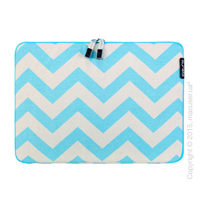 "Чехол-конверт Runetz Soft Fabric Sleeve, Teal Chevron для MacBook Air/ Pro 15"" (Retina)"