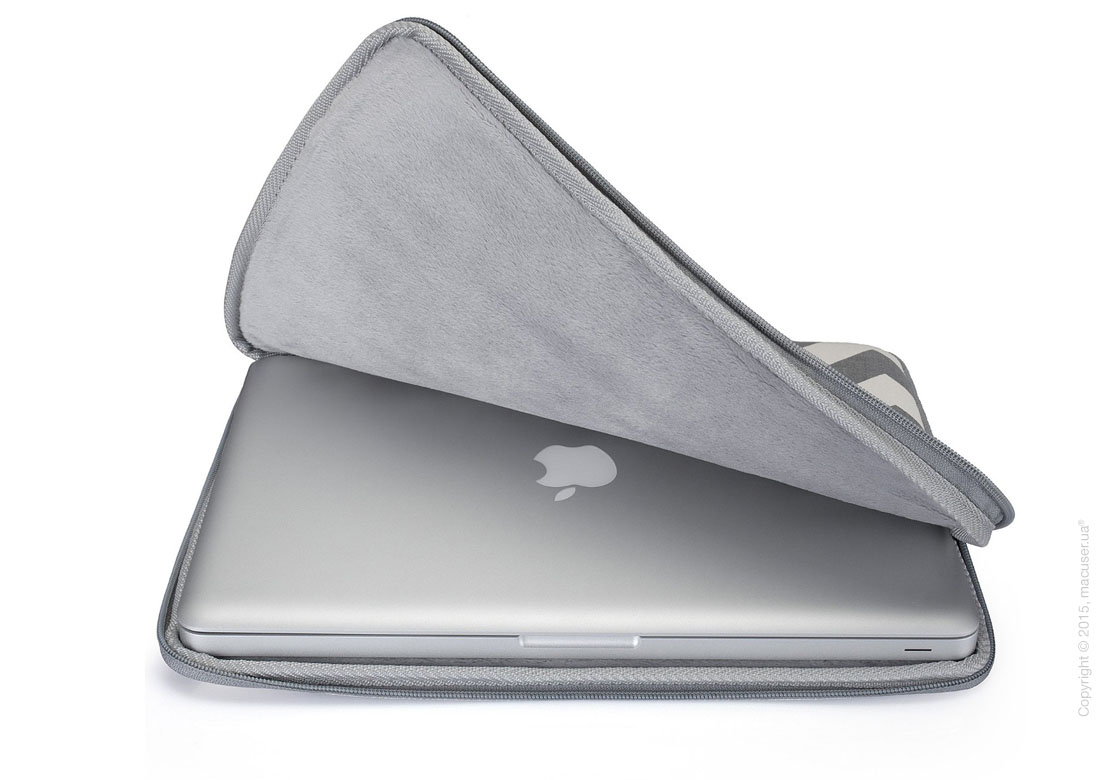 "Чехол-конверт Runetz Soft Fabric Sleeve, Gray Chevron для MacBook Pro 15"" (Retina)"