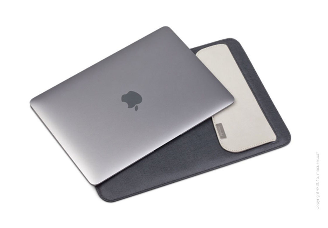 Чехол Moshi Muse Microfiber Sleeve Case Graphite Black для MacBook 12