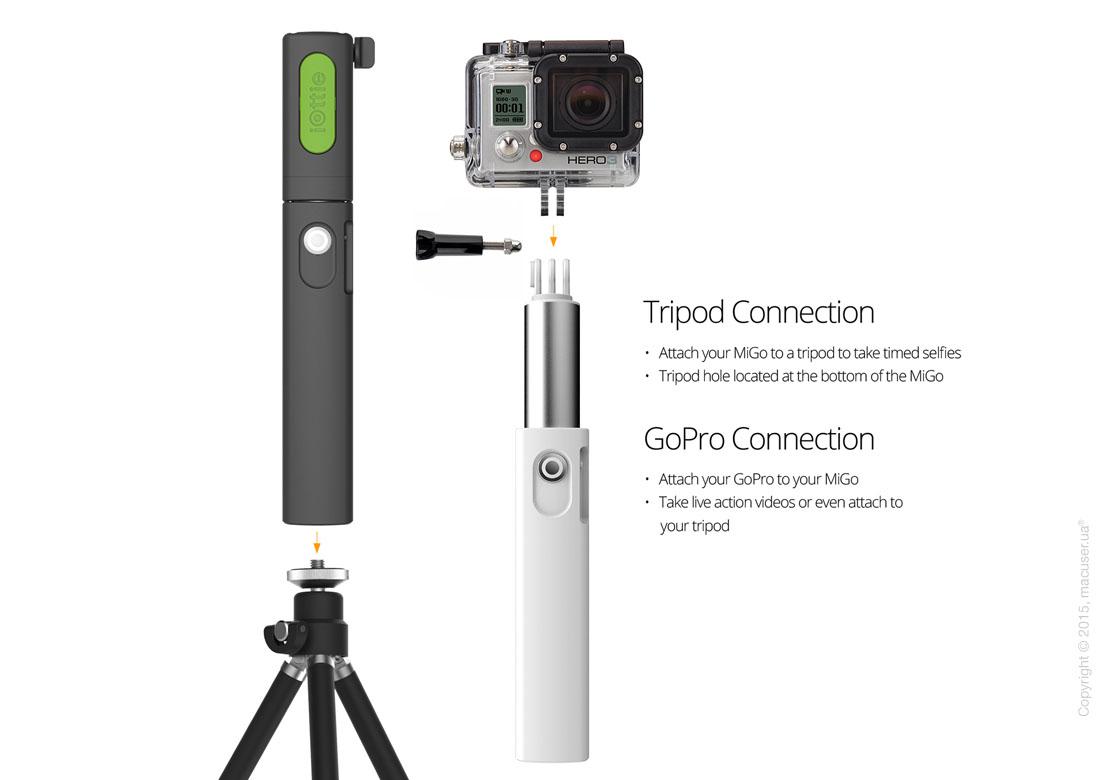 Монопод (селфи-палка) iOttie MiGo Selfie Stick, Black