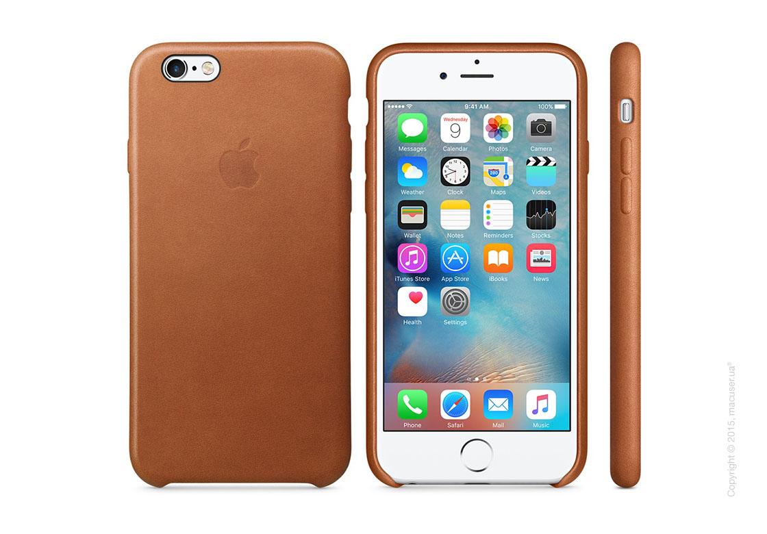 Чехол Apple iPhone 6/6s Plus Leather Case, Saddle Brown