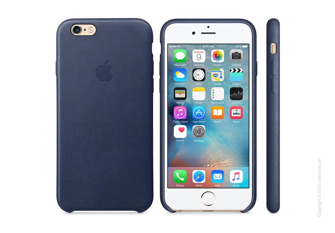 Чехол Apple iPhone 6/6s Plus Leather Case, Midnight Blue