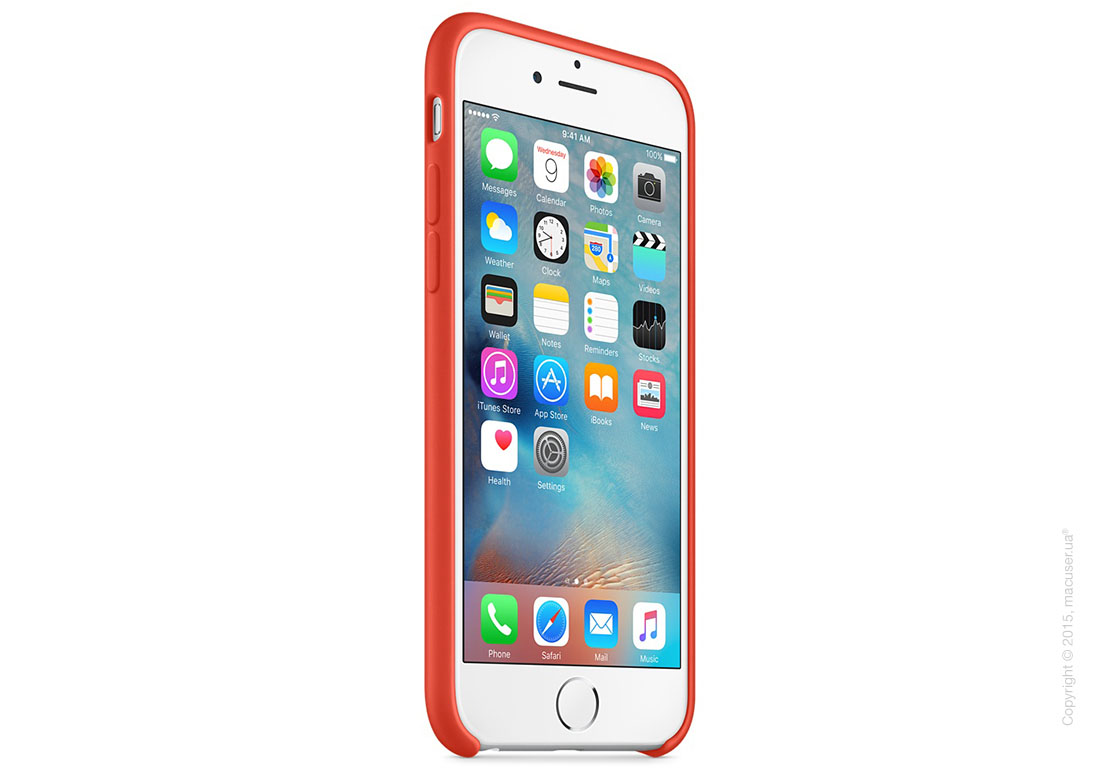 Чехол Apple iPhone 6/6s Silicone Case, Orange