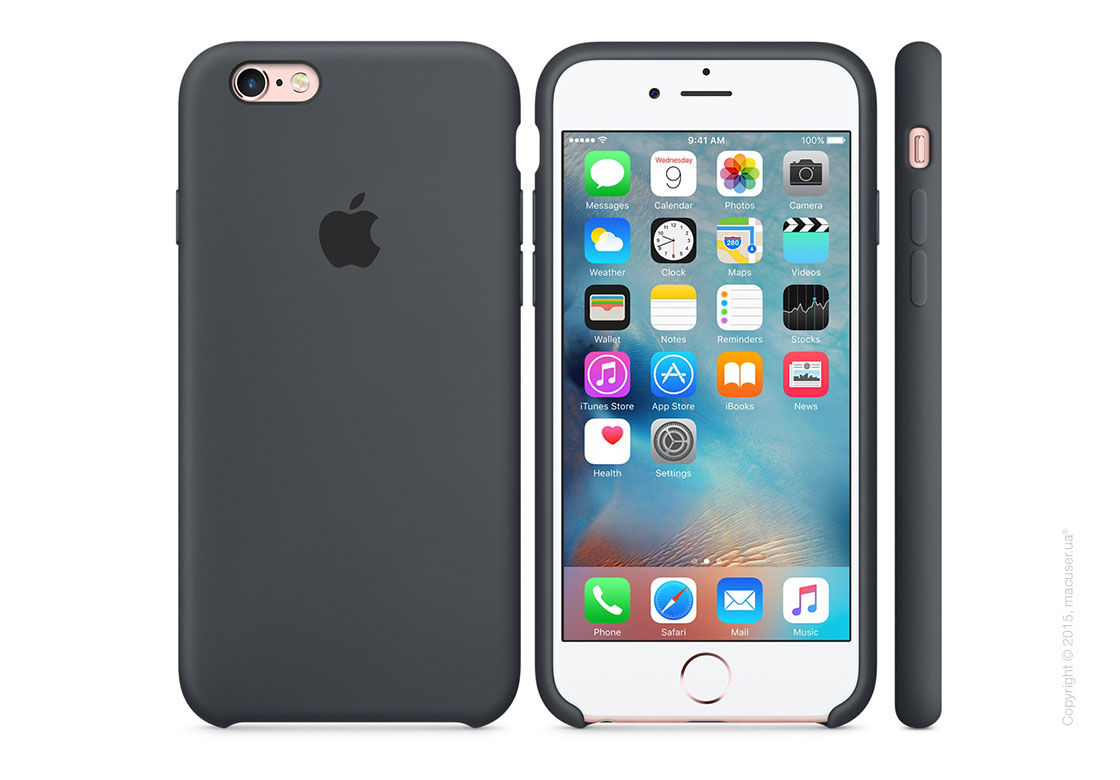 Чехол Apple iPhone 6/6s Plus Silicone Case, Charcoal Gray