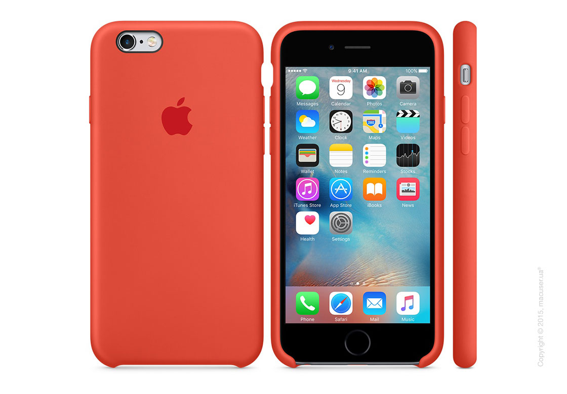 Чехол Apple iPhone 6/6s Plus Silicone Case, Orange
