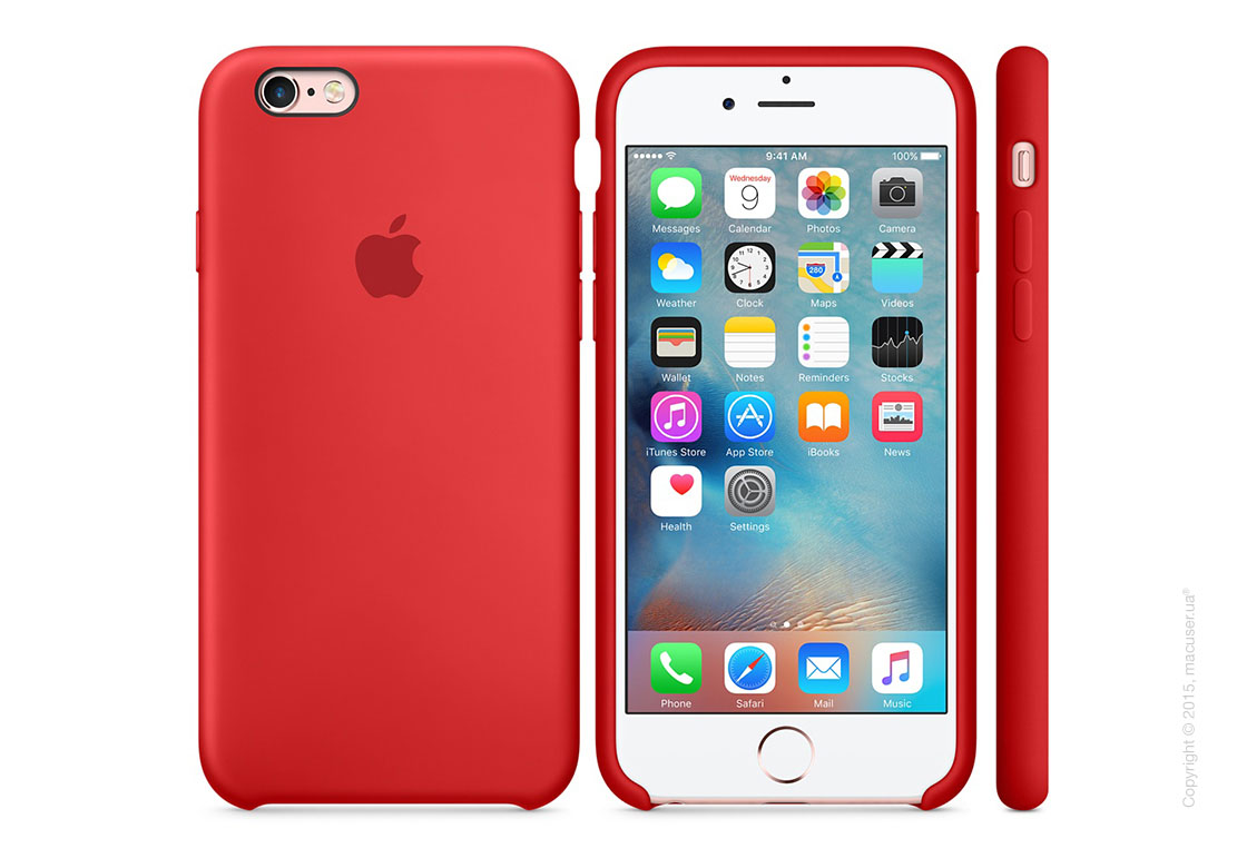 Чехол Apple iPhone 6/6s Plus Silicone Case, (PRODUCT)RED