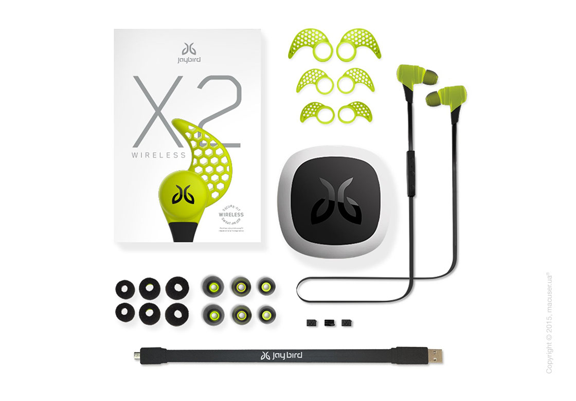 Наушники Jaybird BlueBuds X2 Wireless Earbud Headphones, Charge