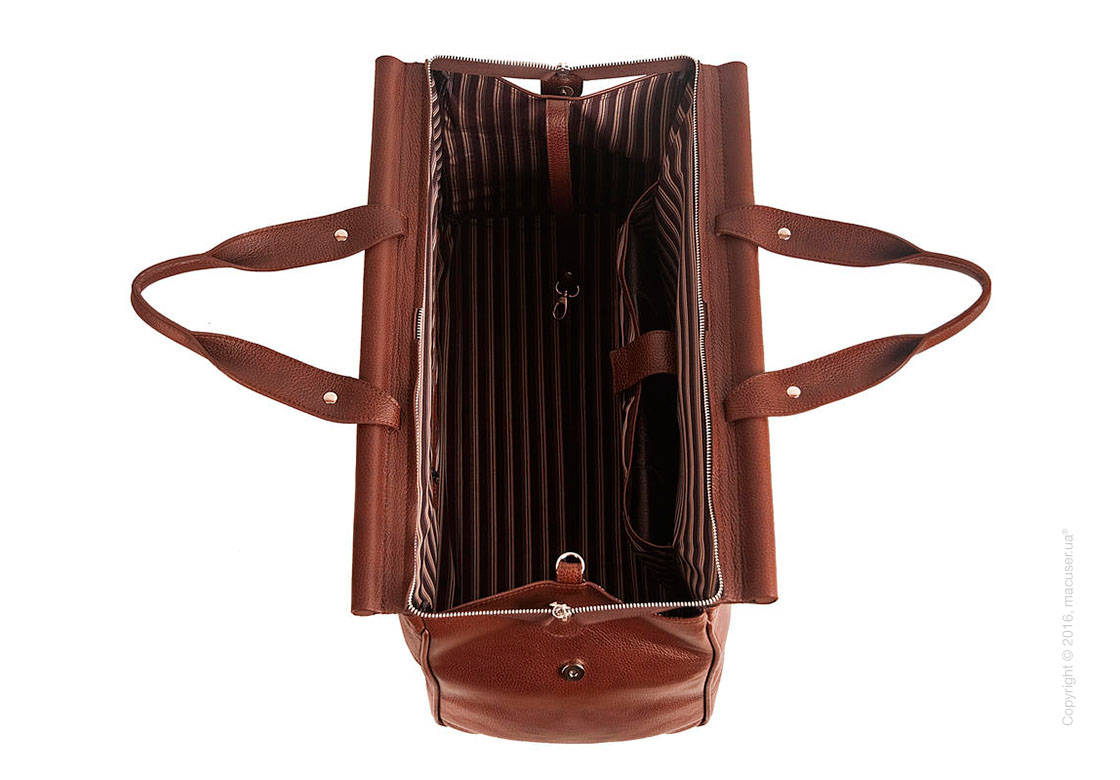 Сумка-саквояж Dublon Leatherworks iKing Brown