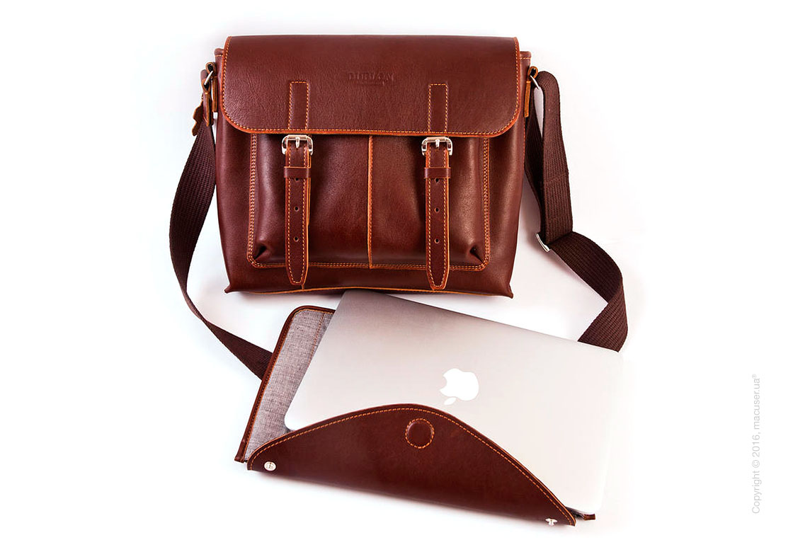 Сумка Dublon Leatherworks Urbantash Duo Brown для Apple MacBook 11
