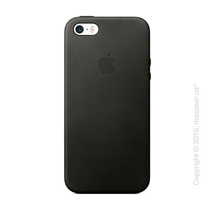 Чехол Apple SE Leather Case, Black