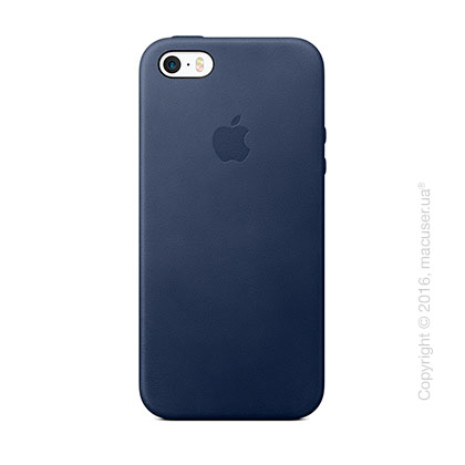 Чехол Apple SE Leather Case, Midnight Blue