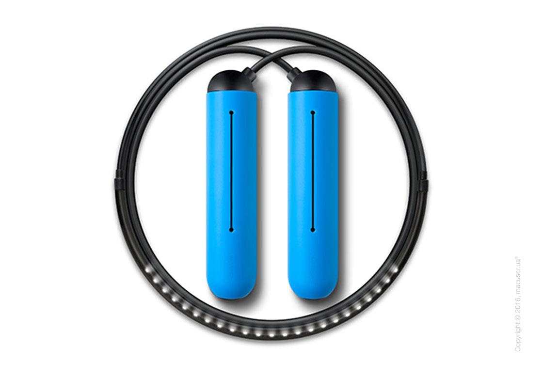 Умная скакалка Tangram Smart Rope, M size, Black + силиконовые накладки Blue Soft Grip