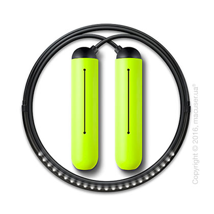 Умная скакалка Tangram Smart Rope, M size, Black + силиконовые накладки Green Soft Grip