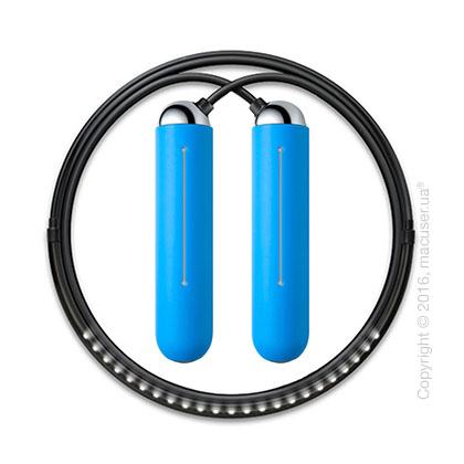 Умная скакалка Tangram Smart Rope, M size, Chrome + силиконовые накладки Blue Soft Grip